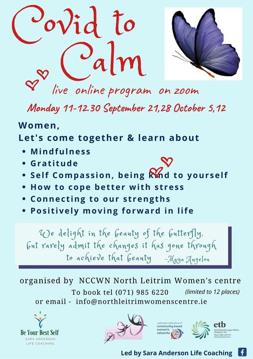 NCCWN North Leitrim From Covid to Calm Poster