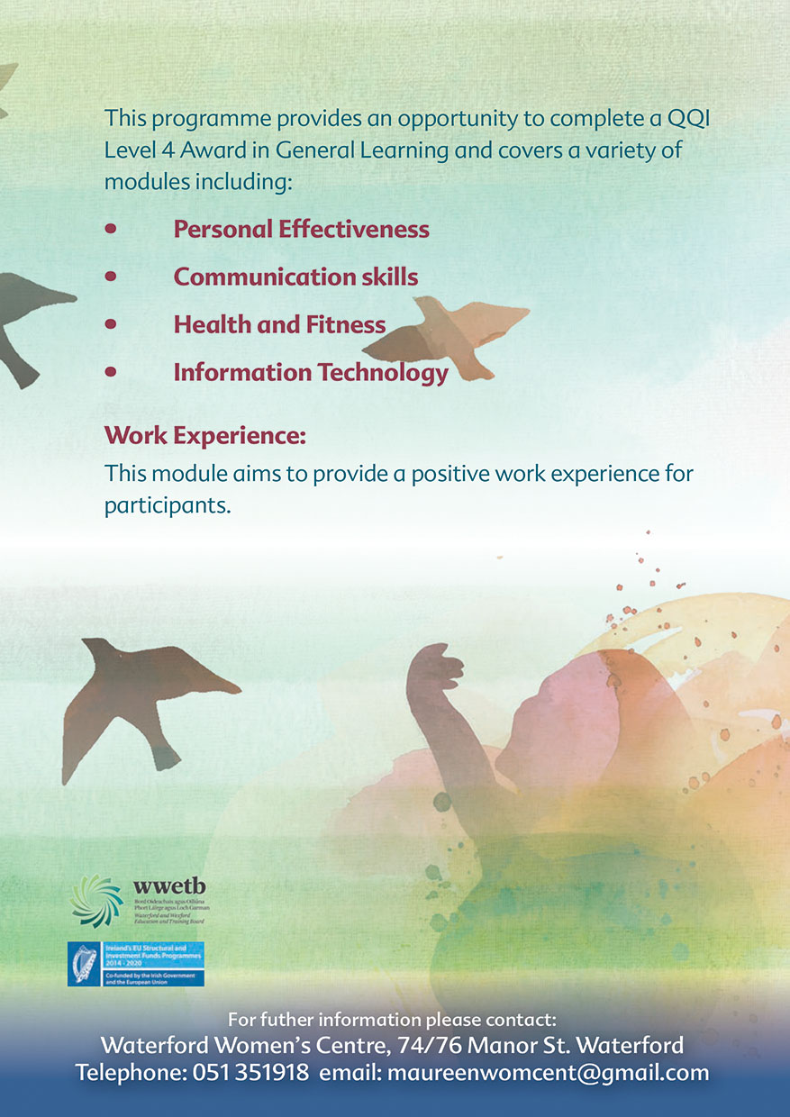 NCCWN Waterford Womens Centre Pathways to Employment course for women page 2