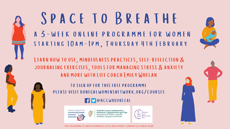 NCCWN-Donegal Women's Network Space to Breathe online programme