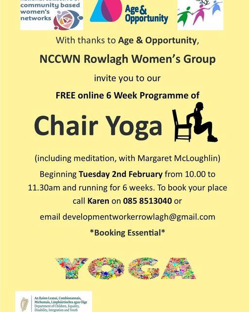 NCCWN Rowlagh Women's Group - Chair Yoga