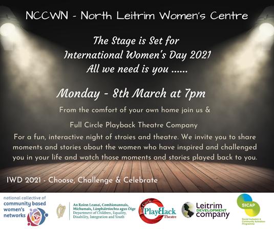 NCCWN North Leitrim Women's Centre International Women's Day Event 2021