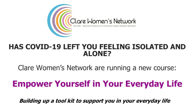 NCCWN Clare Women's Network – Empower Yourself in Your Everyday Life online course