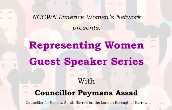 NCCWN Limerick – Representing Women  – Guest Speaker Series