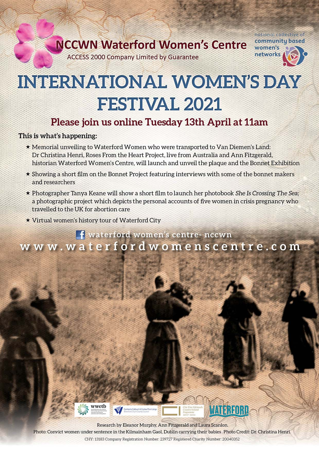 NCCWN Waterford Women's History event Tuesday 13th April