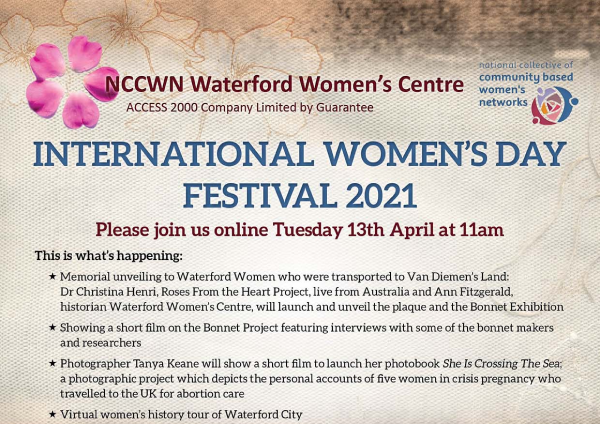 NCCWN Waterford Women's Centre – online history event