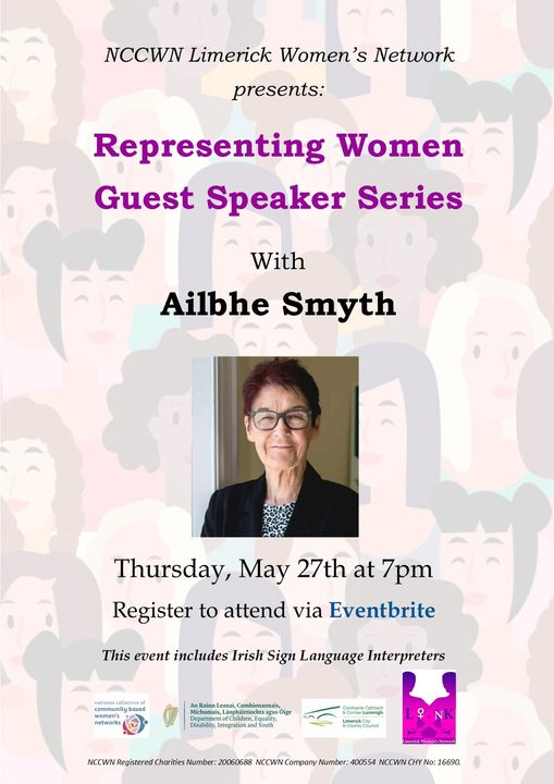 NCCWN Limerick Representing Women - Guest Speaker Series Ailbhe Smyth