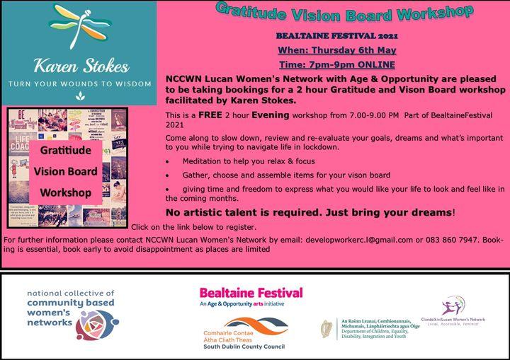 NCCWN Lucan Women's Network Gratitude Vision Board Workshop