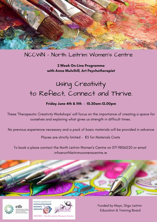 NCCWN North Leitrim Women's Centre Using Art & Creativity to Reflect, Connect & Thrive