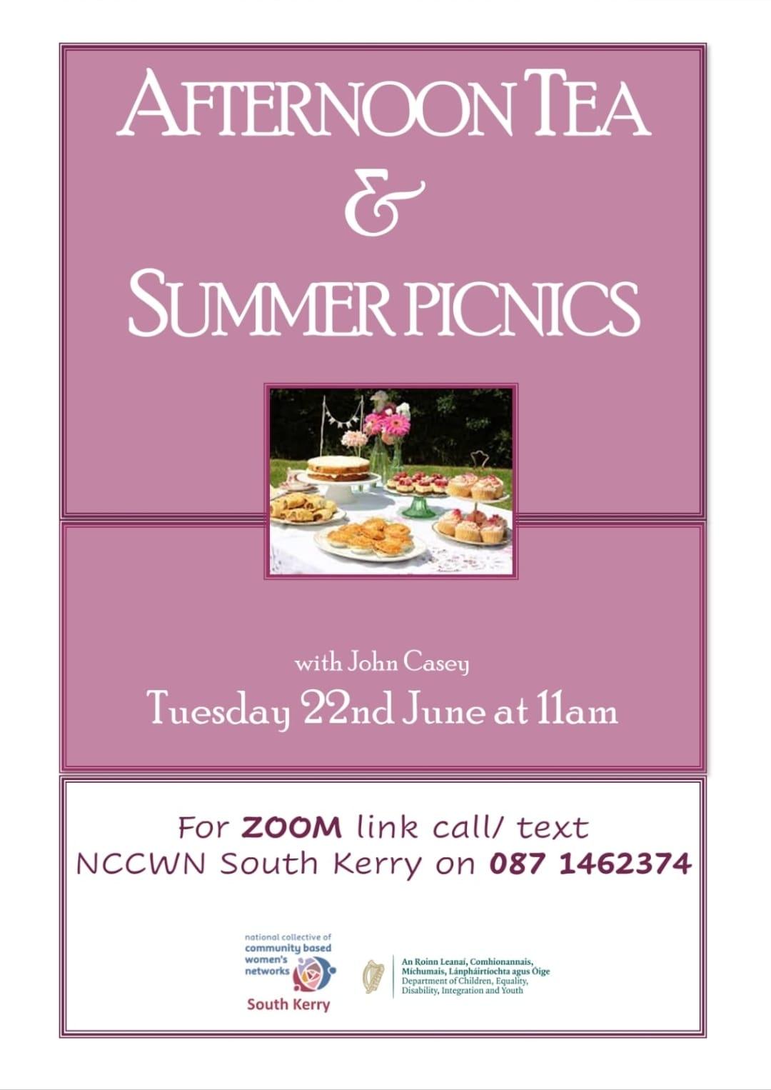 NCCWN South Kerry Afternoon Tea & Summer Picnics