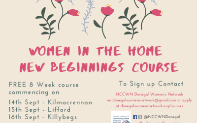 NCCWN – Donegal Women in the Home, New Beginnings course