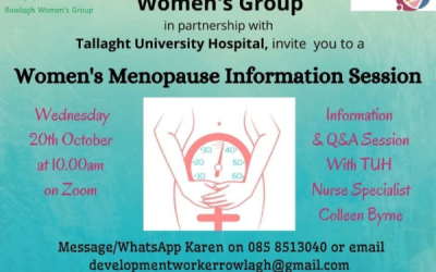 NCCWN Rowlagh Women's Menopause Information Session